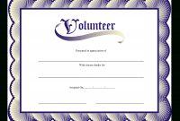 Volunteer Certificate  Templates At Allbusinesstemplates intended for Volunteer Certificate Templates