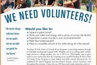 Volunteer Recruitment Template Free Volunteer Recruitment Flyer pertaining to Volunteer Brochure Template