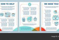 Volunteering Activity Brochure Template Layout Take Action Flyer inside Volunteer Brochure Template