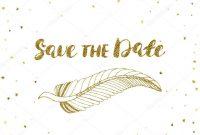 Vorlage Für Karte Banner Flyer Speichern Die Datumseinladung throughout Save The Date Banner Template