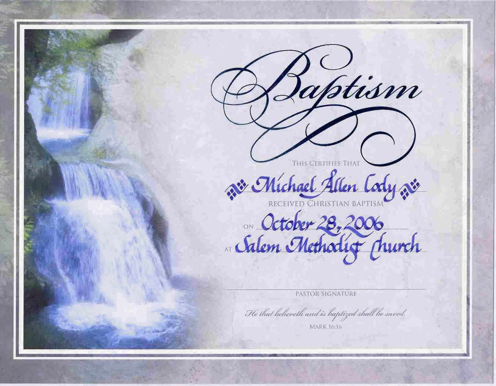 Water Baptism Certificate Templateencephaloscom Encephaloscom With Roman Catholic Baptism Certificate Template