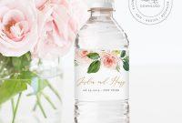 Water Bottle Label Template Instant Download Printable Custom regarding Bridal Shower Label Templates