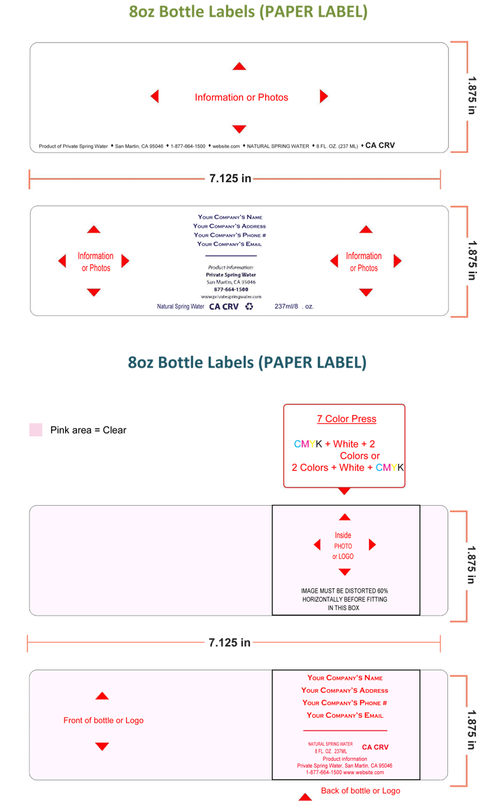Water Bottle Label Template  Make Personalized Bottle Labels Regarding Water Bottle Label Template Free Word