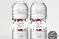 Water Bottle Label Template Try Before You Buy Water Bottle Labels intended for Mineral Water Label Template