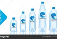 Water Bottle Template And Ready Label Design — Stock Vector © Erryan intended for Mineral Water Label Template