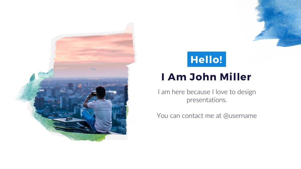Watercolor Free Powerpoint Template  Presentations On Powerpointify Regarding Tourism Powerpoint Template