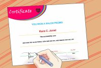 Ways To Make A Certificate  Wikihow pertaining to Powerpoint Award Certificate Template
