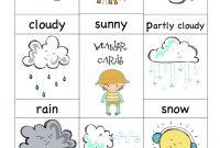 Weather Cards  Preschool  Preschool Weather Preschool Printables for Kids Weather Report Template