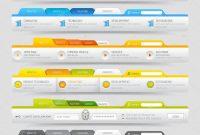 Web Design Template Elements With Icons Set Navigation Menu Bars with regard to Free Website Menu Design Templates