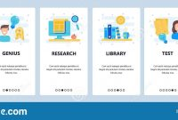 Web Site Onboarding Screens Education High School And College regarding College Banner Template