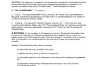 Website Design Nondisclosure Agreement Nda Template  Eforms with Unilateral Non Disclosure Agreement Template