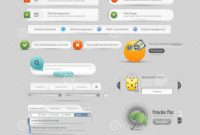 Website Design Template Menu Elements With Icons Stock Vector for Free Website Menu Design Templates