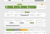 Website Template Design Menu Navigation Elements With Icons Set inside Free Website Menu Design Templates