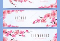 Wedding Banners Template With Spring Japan Sakura Cherry Blossom intended for Wedding Banner Design Templates