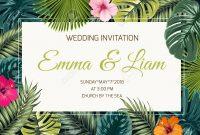 Wedding Event Invitation Card Template Exotic Tropical Jungle regarding Event Invitation Card Template
