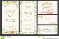Wedding Invitation Card Template Stock Vector  Illustration Of inside Invitation Cards Templates For Marriage