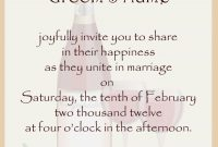 Wedding Invitation Card Template Unique Sample Wedding Invitation for Sample Wedding Invitation Cards Templates