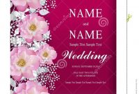 Wedding Invitation Card Templates  Stock Vector  Illustration Of with regard to Invitation Cards Templates For Marriage