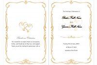 Wedding Invitation Latest Trend Wedding Decorating Wedding Borders inside Free Printable Wedding Program Templates Word