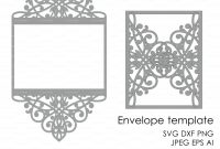 Wedding Invitation Pattern Card Template Lace Folds Studio V Svg throughout Silhouette Cameo Card Templates