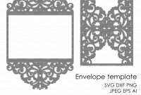 Wedding Invitation Pattern Card Template Lace Folds Studio V Svg within Silhouette Cameo Card Templates