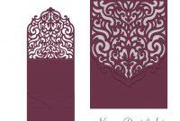 Wedding Invitation Pocket Envelope  Halffold Card Svg Template regarding Half Fold Card Template
