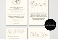 Wedding Invitation Printablewedding Invitation Templatevintagee in Wedding Card Size Template