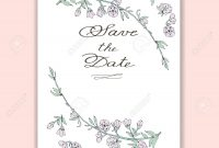 Wedding Invitation Save The Date Cards Menu Flyer Banner for Save The Date Banner Template
