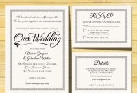 Wedding Invitation Template  Instant Download  Printable within Template For Rsvp Cards For Wedding