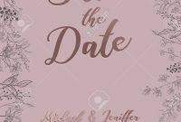 Wedding Invitation Thank You Card Save The Date Card Wedding intended for Save The Date Banner Template