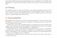 Wedding Photography Cancellation Contract Template with Photography Cancellation Policy Template