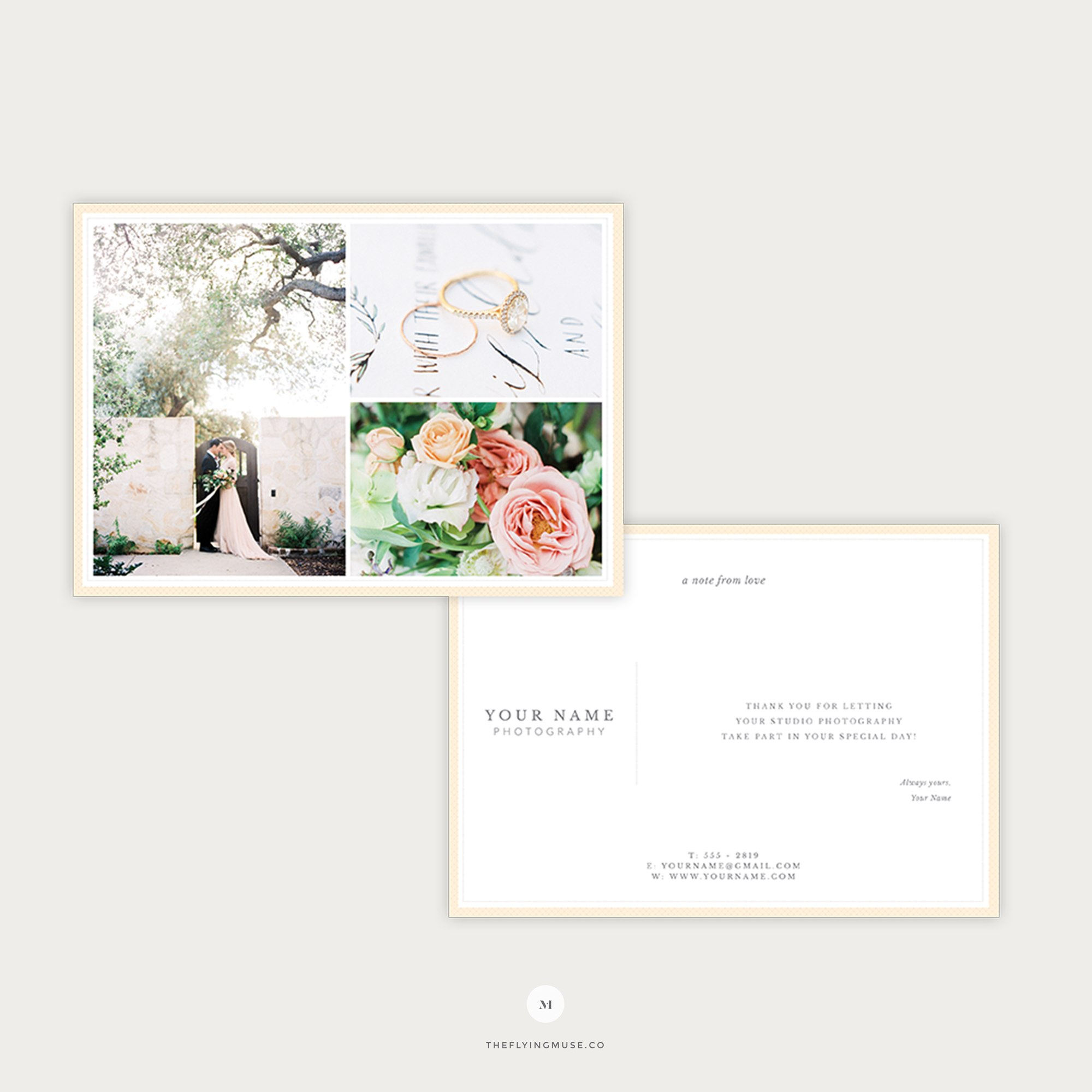 Wedding Photography Thank You Card Template  The Flying Muse With Template For Wedding Thank You Cards
