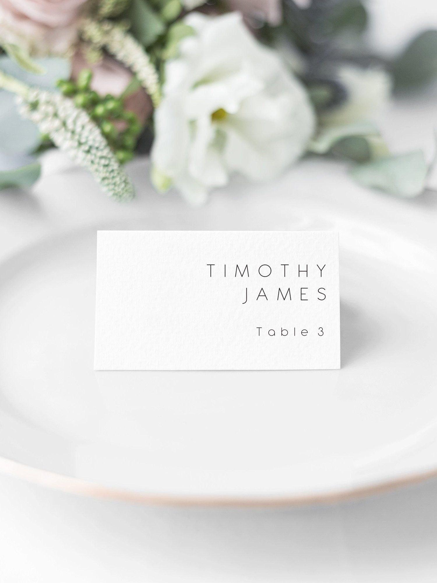Wedding Place Cards Wedding Name Cards Editable Escort Cards With Printable Escort Cards Template