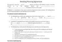 Wedding Planner Contract Template regarding Event Sponsorship Agreement Template