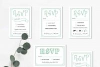 Wedding Rsvp Cards Templates Menu Choices On Invitations And regarding Wedding Rsvp Menu Choice Template