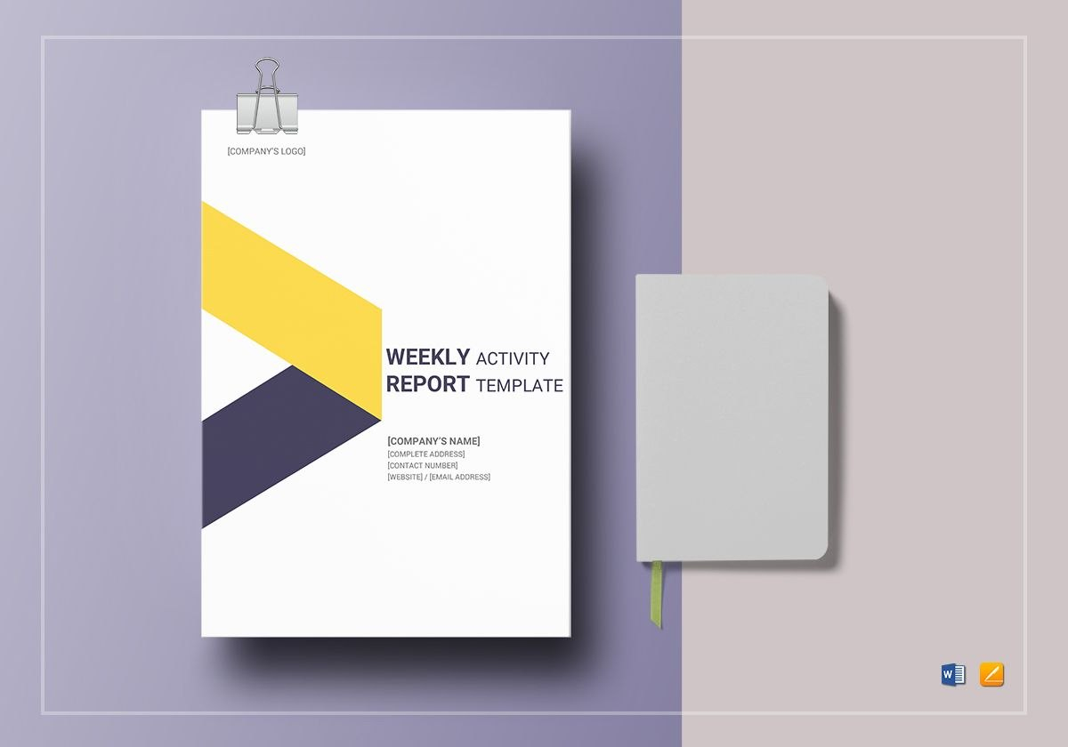 Weekly Activity Report Template In Word Google Docs Apple Pages Pertaining To Weekly Activity Report Template