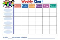 Weekly Behavior Chart Template  Wyatt  Weekly Behavior Charts with regard to Reward Chart Template Word