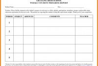 Weekly Progress Report Template  Template Business throughout School Progress Report Template