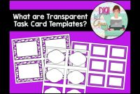 What Are Transparent Task Card Templates  Youtube pertaining to Task Card Template