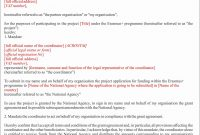 What Is Mandate Letter Do We Need It – Erasmus Is Easy throughout Erasmus Bilateral Agreement Template