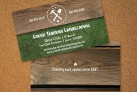 What's Out There   Landscaping Business Card  Ludwig Landscapes regarding Lawn Care Business Cards Templates Free