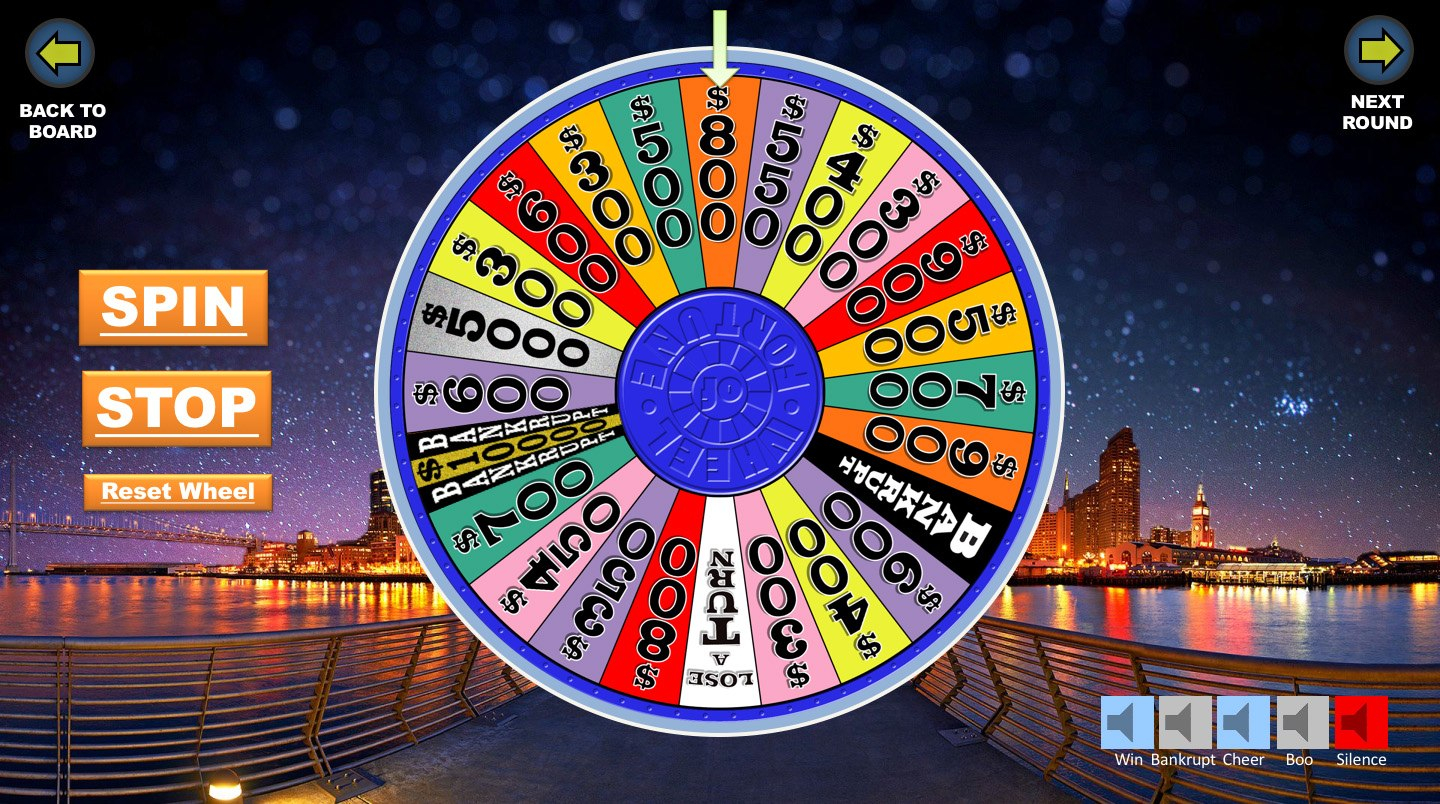 Wheel Of Fortune Powerpoint Game  Youth Downloadsyouth Downloads Intended For Wheel Of Fortune Powerpoint Template