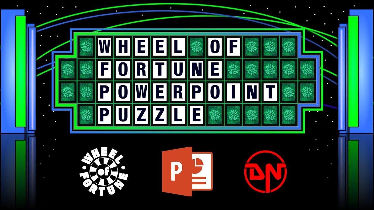 Wheel Of Fortune  Powerpoint Puzzle Regarding Wheel Of Fortune Powerpoint Template