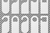 White Blank Hotel Room Door Hangers Vector Template Isolated Stock throughout Door Label Template