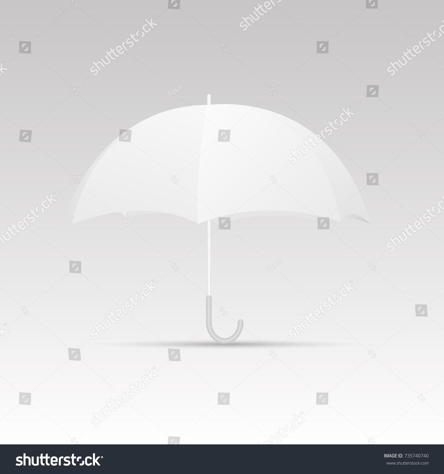 White Umbrella Blank Template Vector Stock Vector Royalty Free In Blank Umbrella Template