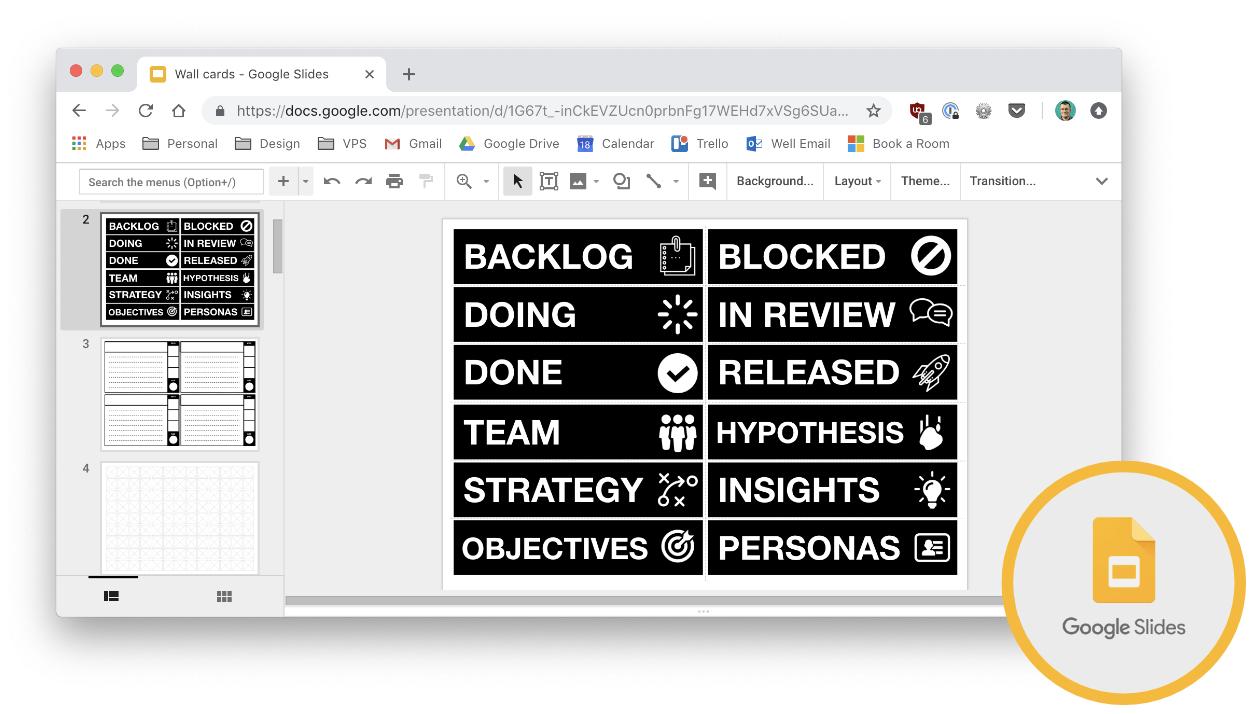 Whitelabel Agile Wall Templates  Paul Smith  Medium Throughout Google Label Templates