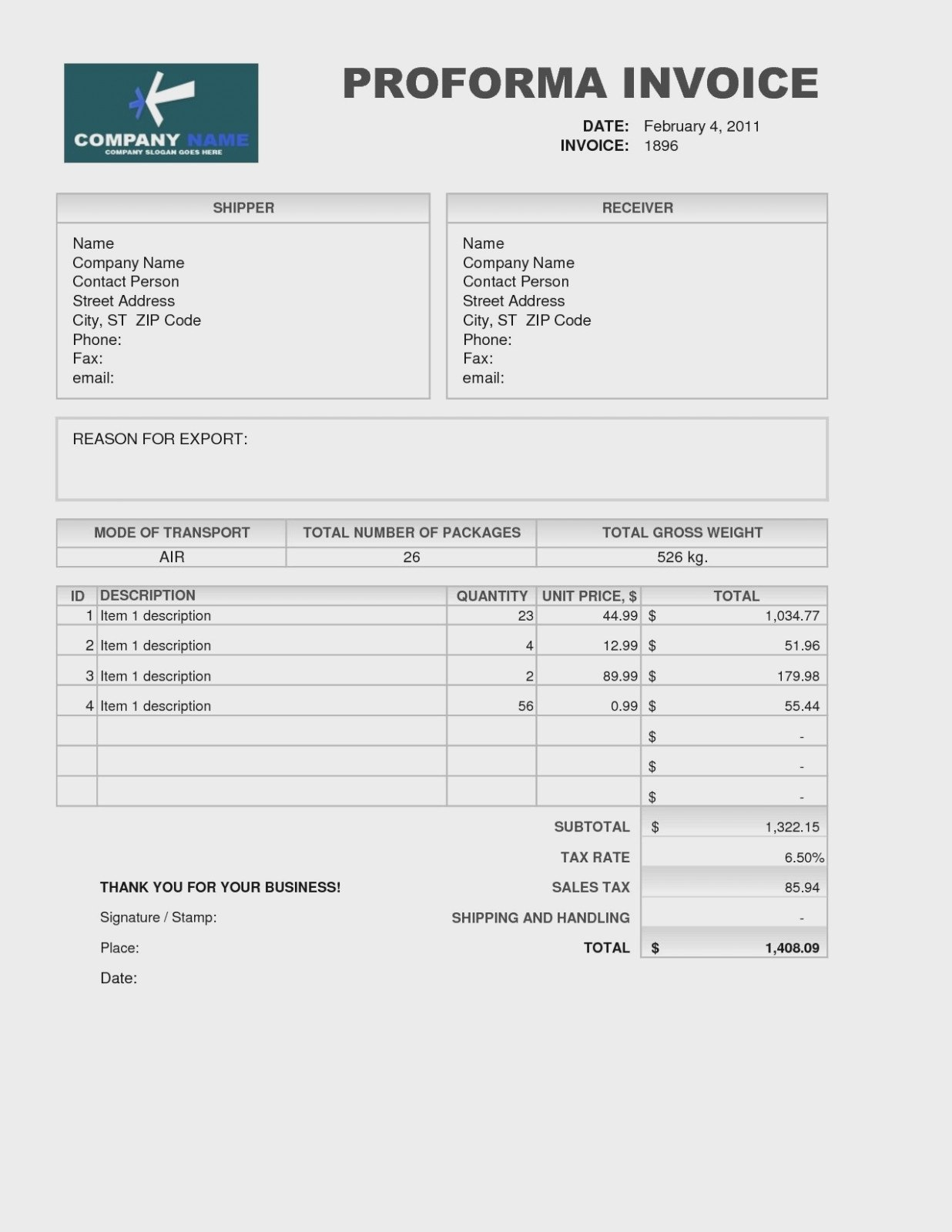 Why You Must Experience Proforma Invoice Format  Invoice Form Inside Proforma Invoice Template India