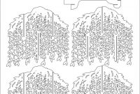 Willow Tree Pop Up Cardkirigami Pattern   Popup I Kirigami with Pop Up Tree Card Template