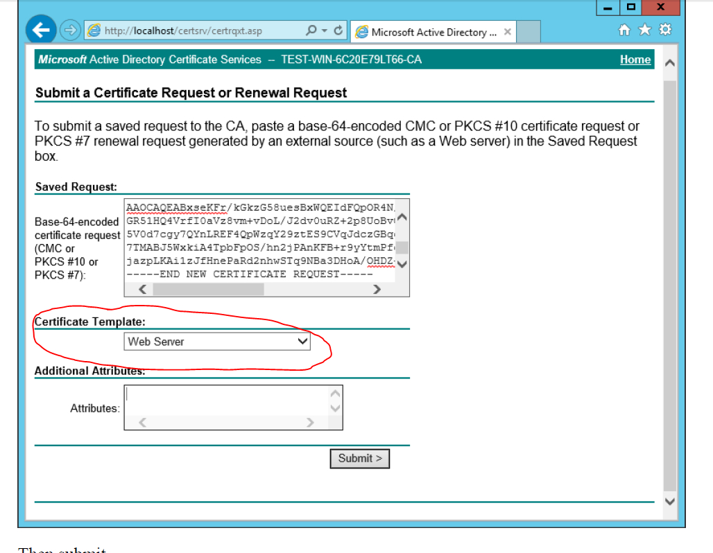 Windows Server  R  Ad Certificate Services  The Combobox To In Active Directory Certificate Templates