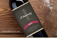 Wine Bottle Anniversary Labels Free Printable  Bloggers' Best Diy throughout Diy Wine Label Template